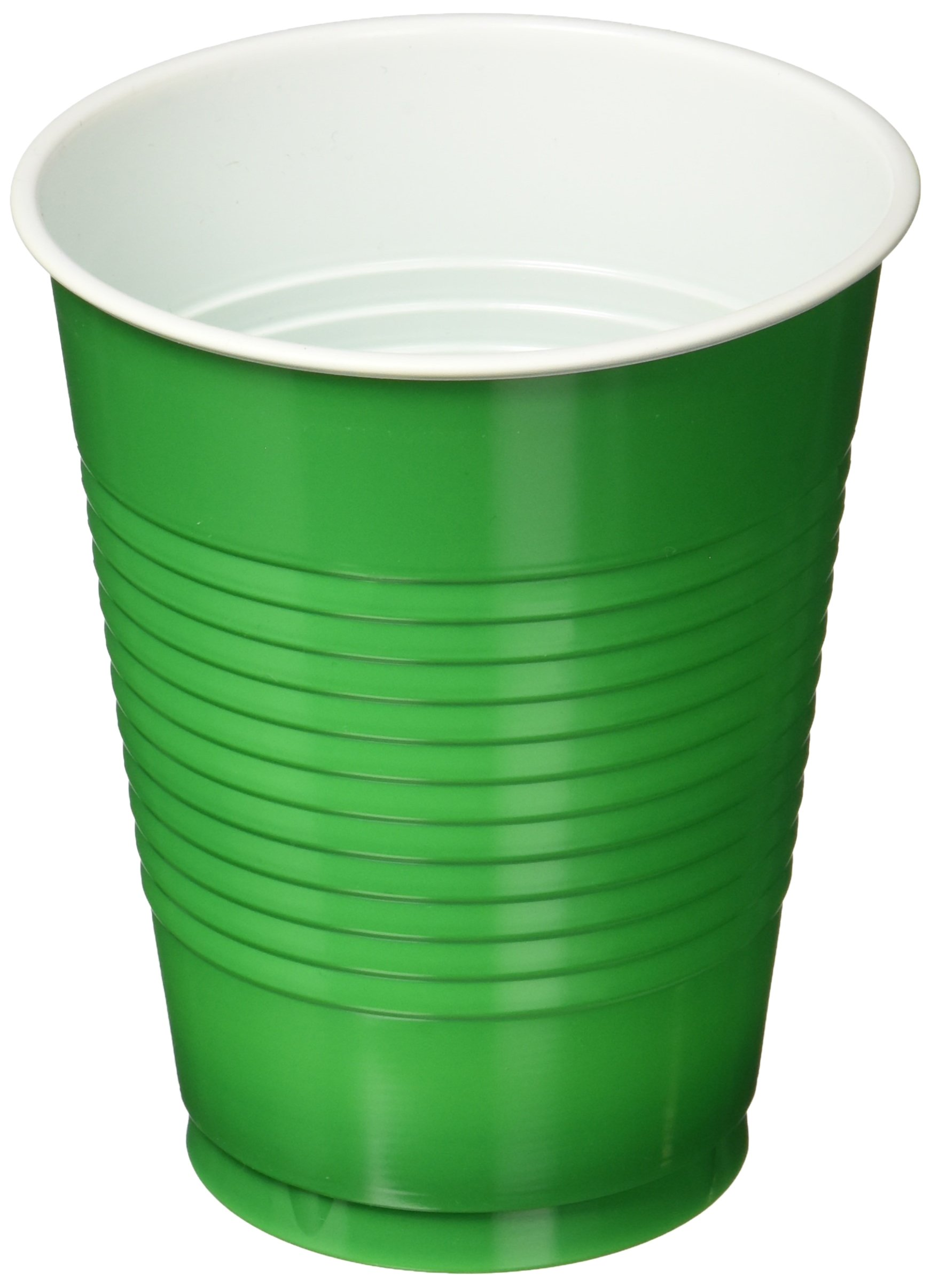 Amscan Awesome Festive Green Big Party Pack Plastic Cups 16 oz, 50 Pieces