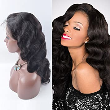 Amazon.com   OrderWigsOnline Body Wave Wigs for Black Women Virgin Remy  Indian Human Hair Front Lace 7A 130% Density Factory Direct Selling  Wholesale Price ... 9808ba83d5