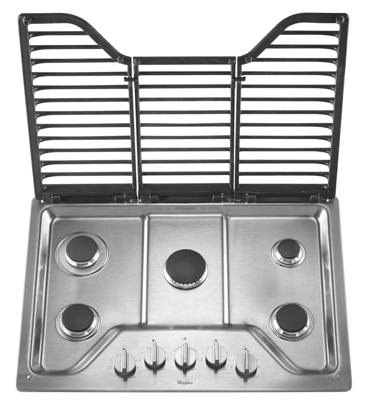 Amazon.com: Whirlpool 30 inch 5 Burner Gas Cooktop with EZ-2-Lift ...