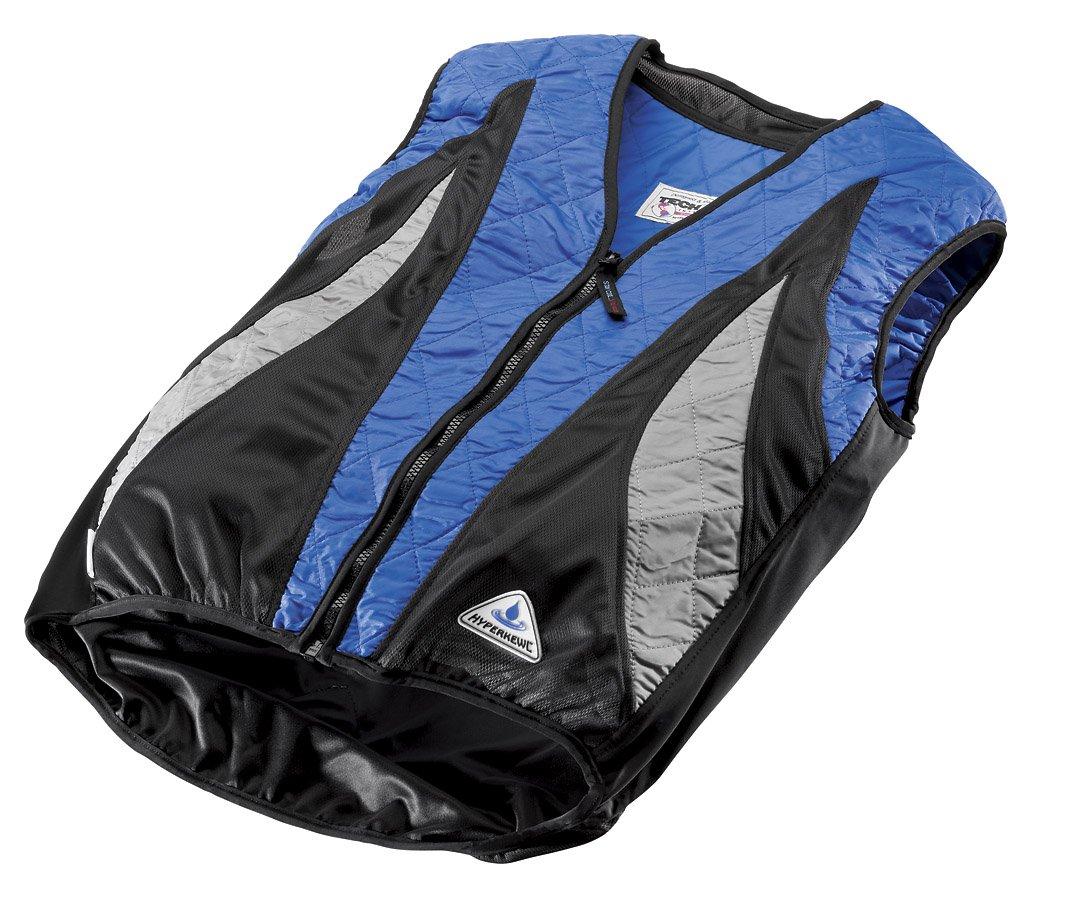 HyperKewl Evaporative Cooling PEAK Cycling Vest, Blue/Silver/Black, X-Small