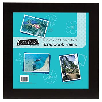mcs flat 12x12 scrapbook frame in black overall size 15x15 40952