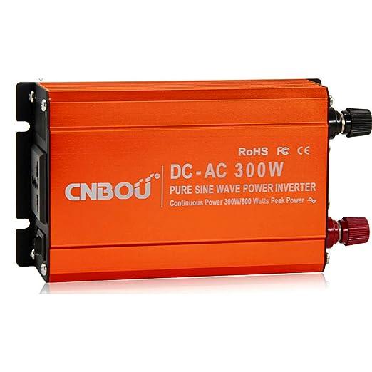 5 opinioni per Inverter convertitore onda sinusoidale pura 300W picco 600W DC12V AC230V usb