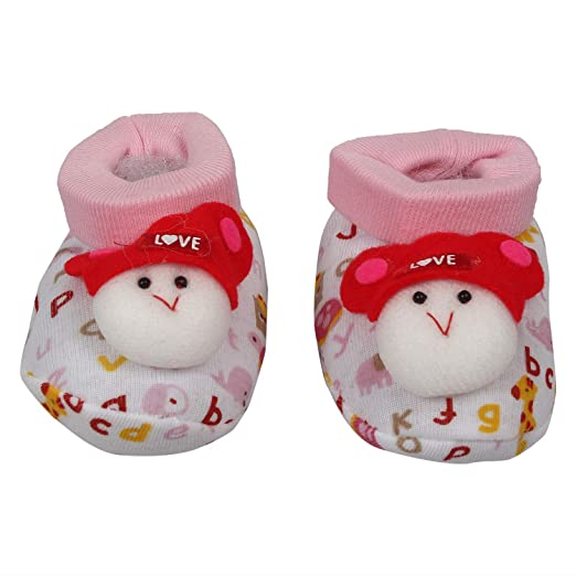 Half Tickets Printed Booties with Toy for Infant Up to 6 Months - Assorted Colour - 2 Pairs