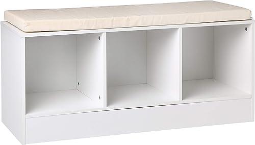 Amazon Basics 3-Cube Entryway Shoe Storage Bench