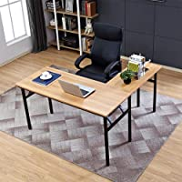 Need L-Shaped Folding Computer Desk Large Corner Desk One-Step Assembly Home Office Table Computer Workstation SG Ready…
