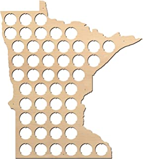 product image for All States Beer Cap Map Minnesota - 13x15 inches - 48 caps - Minnesota Beer Cap Holder - Birch Plywood