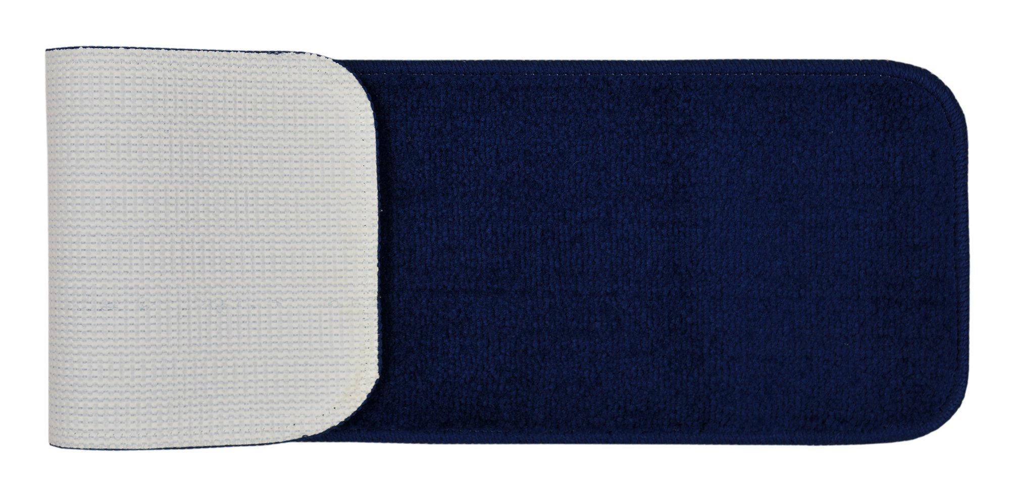RugStylesOnline TRENDY-ST-8X30-NAVY-13 Trendy Stair Tread Treads Indoor Skid Slip Resistant Carpet Stair Tread Treads Machine Washable 8 ½'' W x 30'' L, Royal Navy Blue, Set of 13 by RugStylesOnline (Image #2)