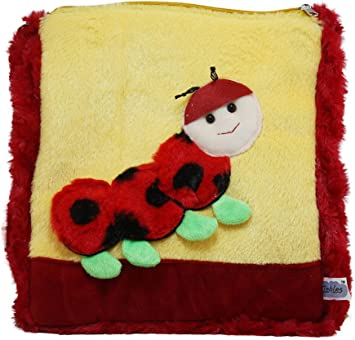 Tickles Red Cute Beetle School Sling Bag Stuffed Soft Plush Toy 3 litres