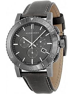 7e1011392f07 Amazon.com: Burberry Black Dial Black Fabric Strap Mens Watch BU9362 ...