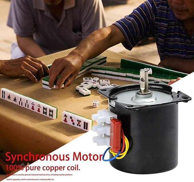 60KTYZ 220V Moteur synchrone 14W Moteur /à aimant permanent Grand couple /à basse vitesse /à faible bruit 100/% Moteur de bobine de cuivre pur