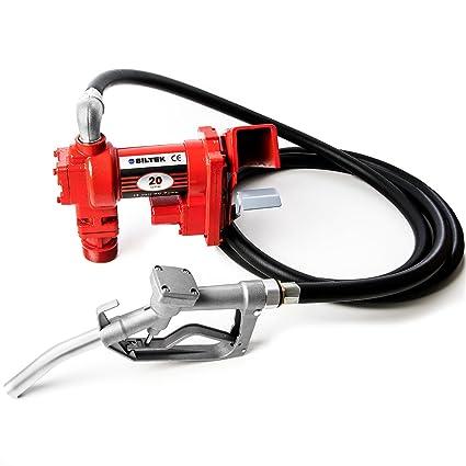 12 Volt Transfer Pump >> Amazon Com 12v Dc High Flow 20 Gpm Fuel Transfer Pump For Gasoline