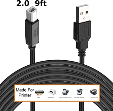 3 ft 3 Pack USB 2.0 Type A Male to Type B Male Printer Scanner High Speed Cable