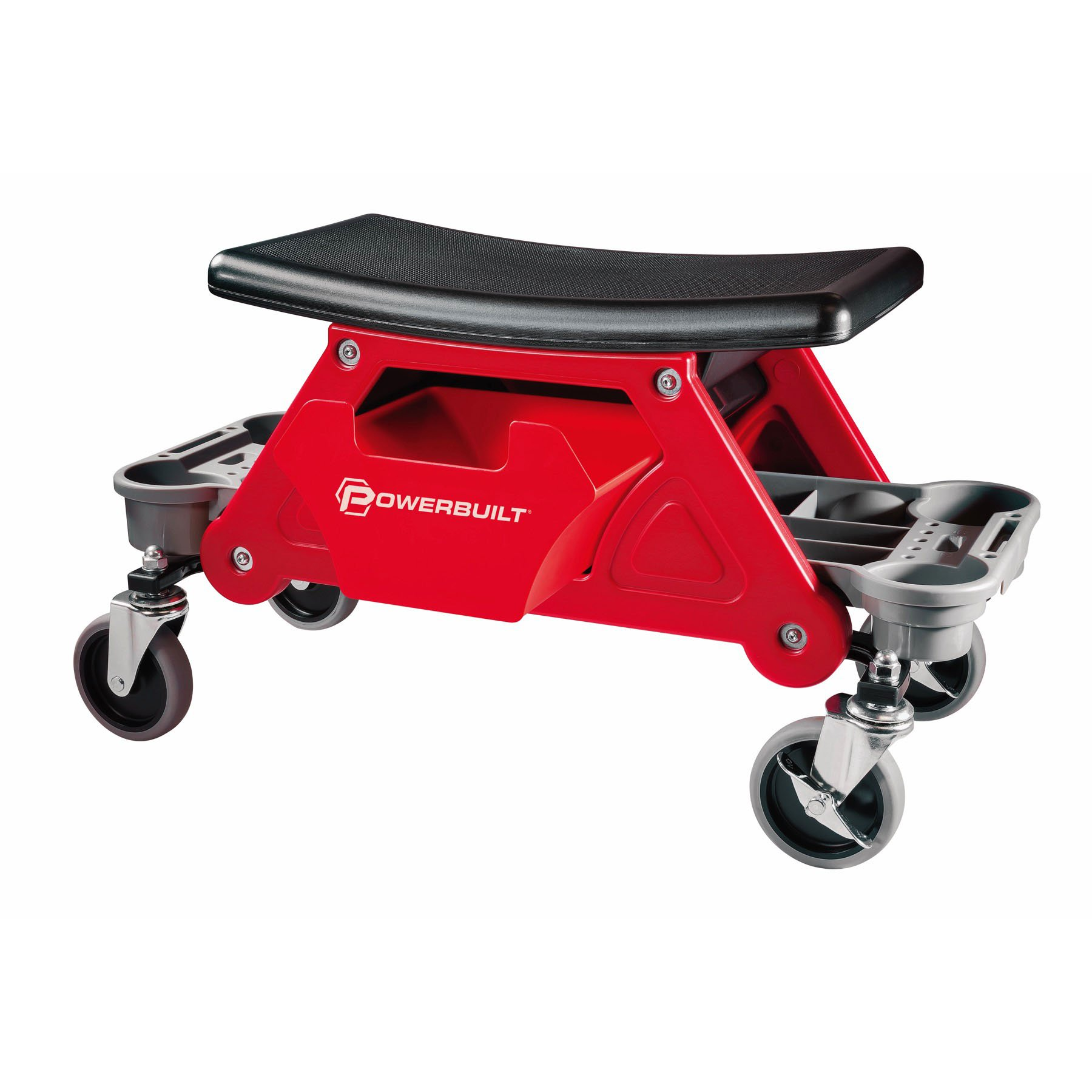 Powerbuilt Heavy Duty Rolling Mechanics Seat Brake Stool 300lb Capacity - 240036 (Stool)