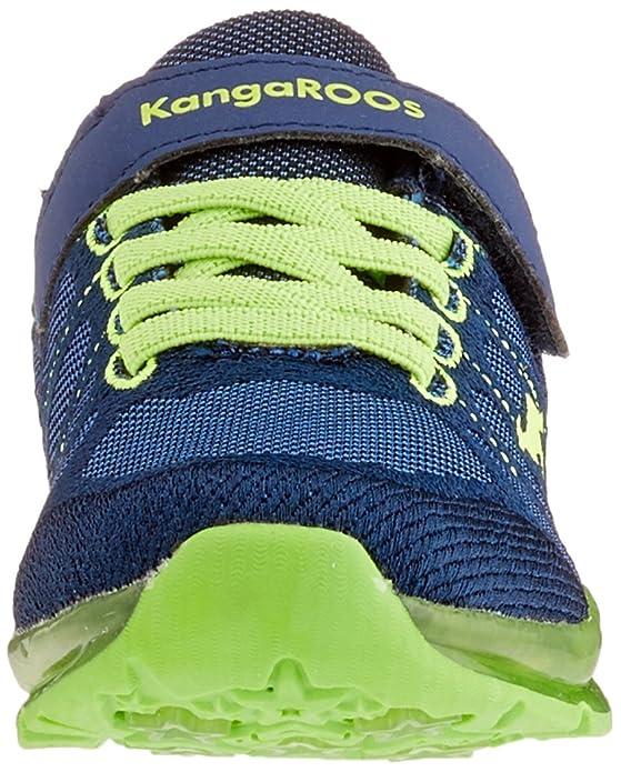 Kangaroos Kangaboy EV SL, Zapatillas Unisex Niños, Azul (Dk Navy/Lime 4054), 32 EU