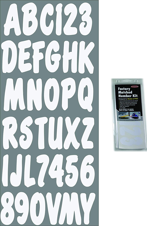 Renewed Hardline Products SIBKG200 Silver//Black Number Factory Matched Registration Kit