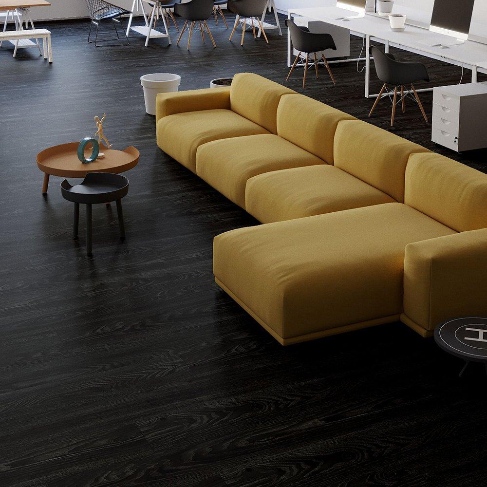 1m/² verschiedene Farben selbstklebend HOME DELUXE Vinylboden V1 Eiche Dunkel