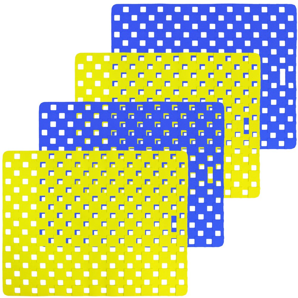 COM-FOUR ® lavello Tappetini in plastica, quadrato–in diversi colori, 32x 26cm 02 Stück - Gelb