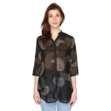 109c0b1bc42de P-Nut Womens Georgette Printed Top with 3 4th Sleeves  Amazon.in  Clothing    Accessories