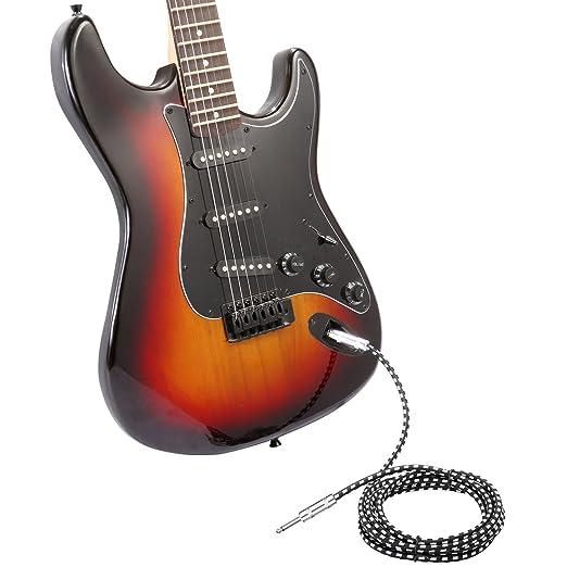 Neewer Cable guitarra eléctrica bajo , 10 pies/3 metros de recta cuerda de instrumento Musical con 1/4 pulgada centro de cobre libre de oxígeno del Metal ...