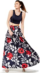 e03060f02a0 Sequin Hearts Juniors  Printed-Skirt 2-Pc. Gown