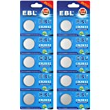EBL 10 Unidades 3V CR2032 DL2032 ECR2032 Pilas Litio - 10 Unidades