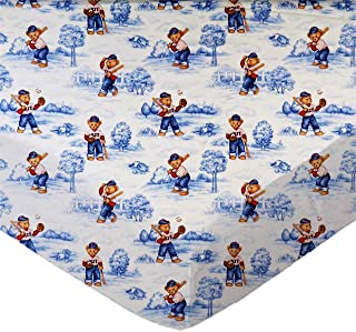 product image for SheetWorld Fitted 100% Cotton Percale Pack N Play Sheet Fits Graco Square Play Yard 36 x 36, All Star Toile, Made in USA