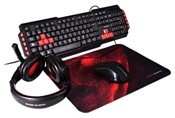 Mars Gaming MRCP1 - Combo gaming de teclado, ratón, auriculares y alfombrilla (teclado