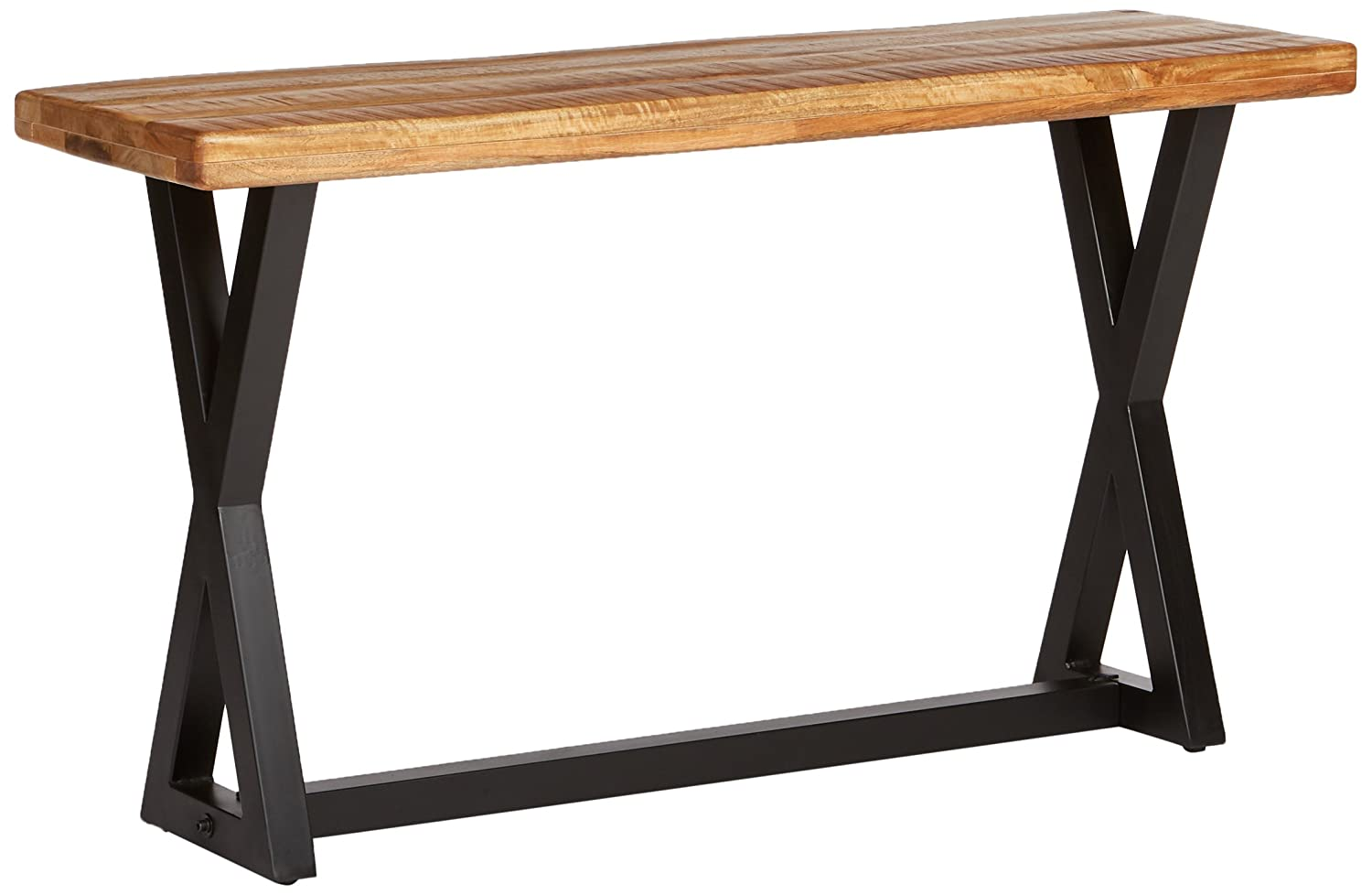 Signature Design by Ashley – Wesling Sofa Table, Brown Top w Black Base