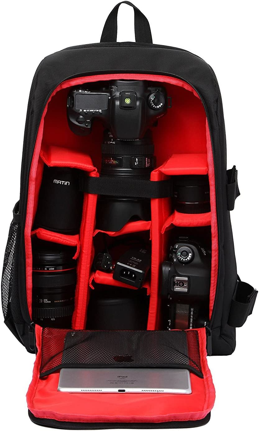 Beaspire Fotorucksack Wasserdicht SLR Foto Rucksack Kamera Laptop Kamerarucksack Outdoor Sling Spiegelreflex Rucks/äcke Camera Bag Backpack Rot