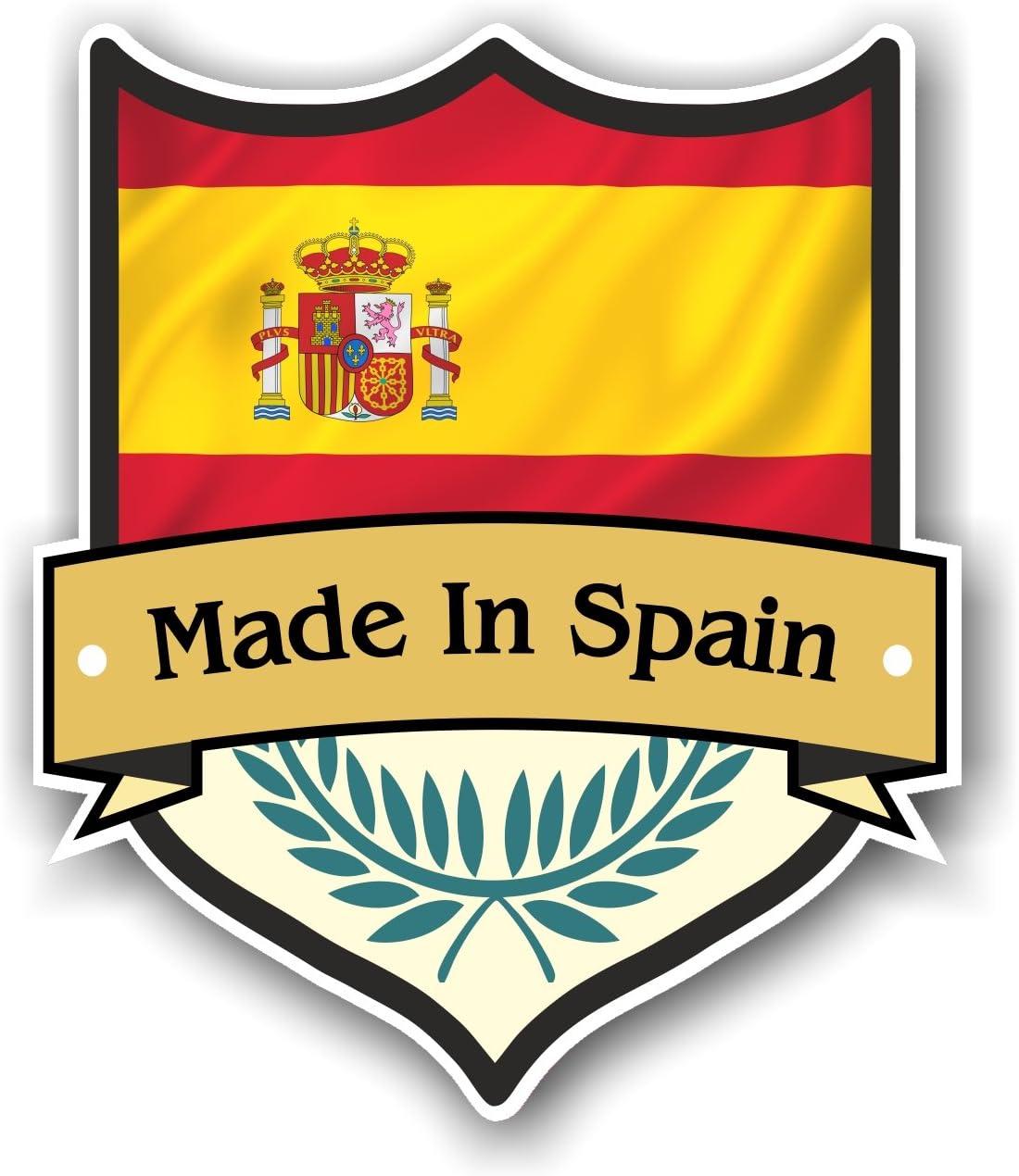 Fabricado en España diseño de escudo con español Bandera de País ...