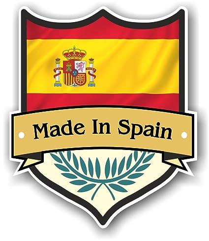 Fabricado en España diseño de escudo con español Bandera de País para moto  caravana 73e3fa9b747