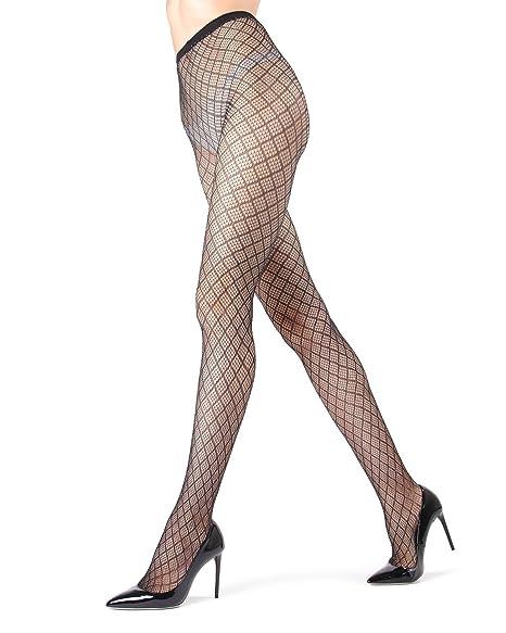 02b706ef88d MeMoi Infinite Diamond Lurex Net Tights at Amazon Women s Clothing store