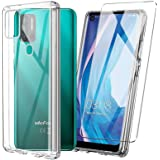 Ulefone Note 11P Case with Tempered Glass Screen Protector Crystal Soft Clear Shockproof TPU Bumper Transparent Silicone Prot
