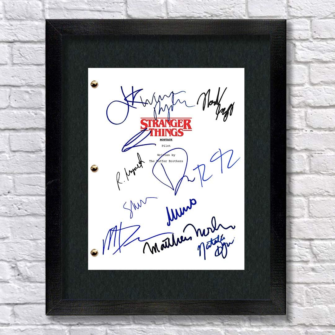 Stranger Things TV Show Cast Autographed Signed Reprint 8.5x11 Script Millie Bobby Brown Gaten Matarazzo Caleb McLaughlin Finn Wolfhard Noah Schnapp Winona Ryder