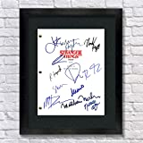 Stranger Things TV Show Cast Autographed Signed Reprint 8.5x11 Script Unframed Millie Bobby Brown Gaten Matarazzo Caleb…