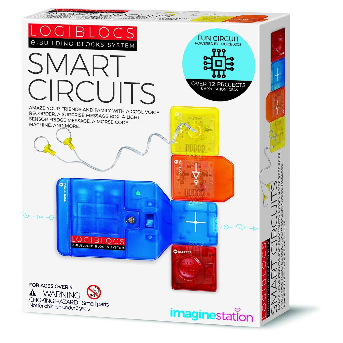 4m 406806 Logiblocs Smart Circuit White Toys Games Voice Recorder