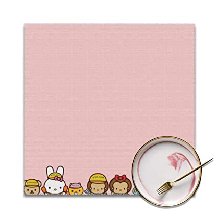942a05644 Amazon.com: LIUYAN Placemats Set of 4 - Hello Kitty Families Place Mats for  Kitchen Dining Table Decoration: Home & Kitchen