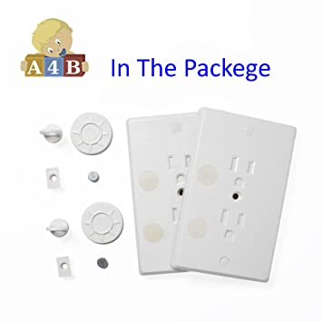 Amazoncom Childproof Outlet Covers Locking Plug Cover Baby