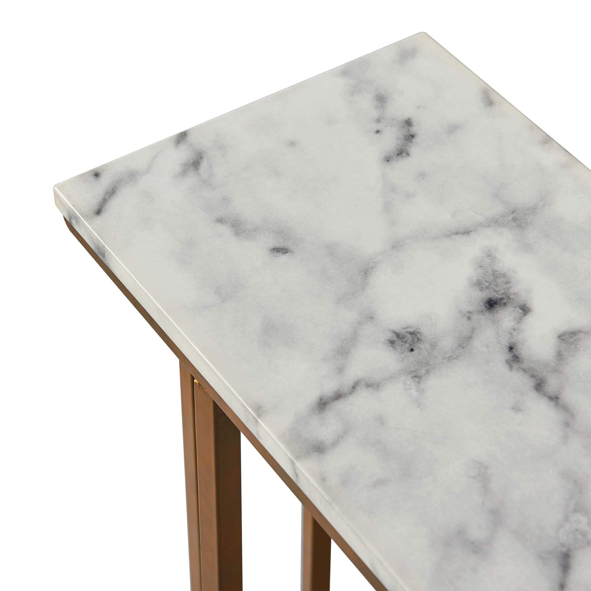Versanora - Marmo C Shape Table - Faux Marble /Brass by Versanora (Image #10)