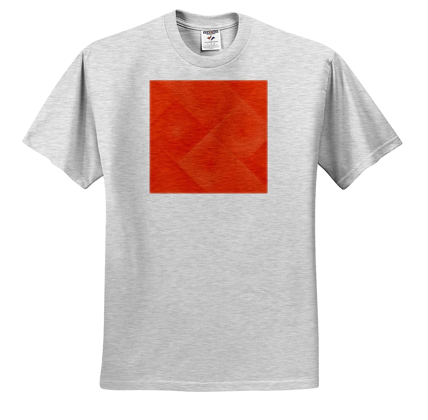 Red Flame Pattern with Soft Medium Squares and Spirals T-Shirts 3dRose RVig Generative Artworks