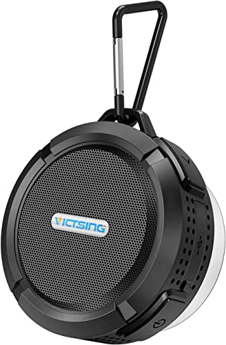 VicTsing SoundHot C6 Portable Bluetooth Speaker, Waterproof Bluetooth Speaker with 6H Playtime, Loud HD Sound, Shower Speaker with Suction Cup Sturdy Hook, Compatible with iOS, Android, PC, Pad