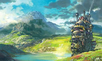 Xxw Artwork Howls Moving Castle Poster Hayao Miyazaki Prints Wall Decor Wallpaper