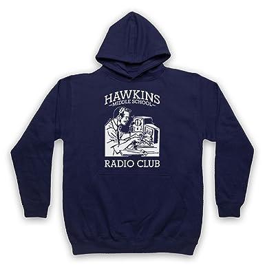 Stranger Things Hawkins Middle School Radio Club Adultos Sudadera con Capucha: Amazon.es: Ropa y accesorios