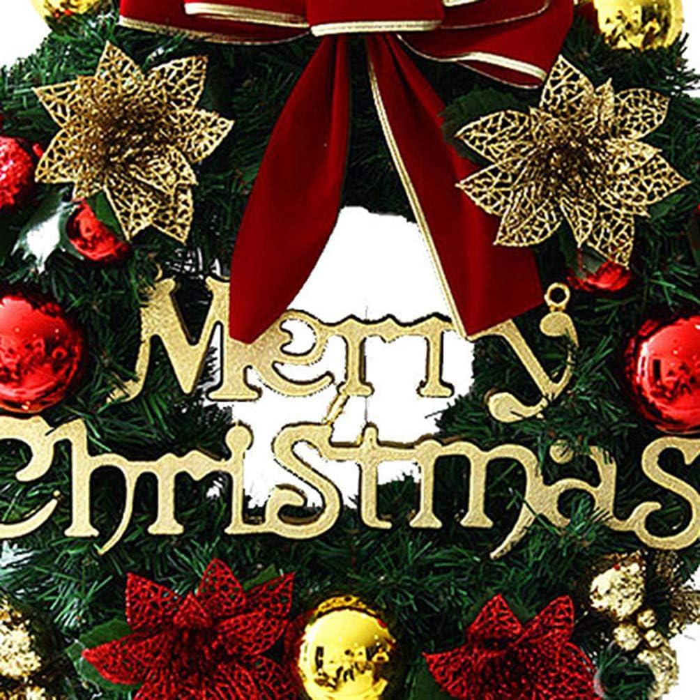 Garneck no/ël Poinsettia Guirlande d/écoration no/ël Suspendu d/écoration Guirlande Suspendue Guirlande pour Magasin Porte Maison 30cm 0.5kg