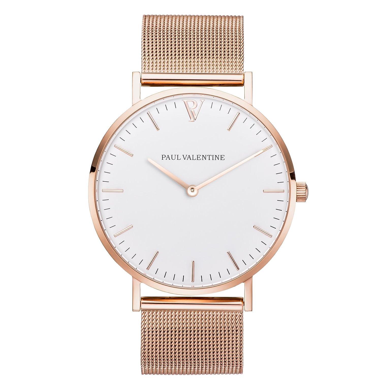 Paul Valentine Armbanduhr | Marina Rose Gold Mesh | Damen Uhr mit elegantem & zeitlosen Design. Hochwertige Verarbeitung