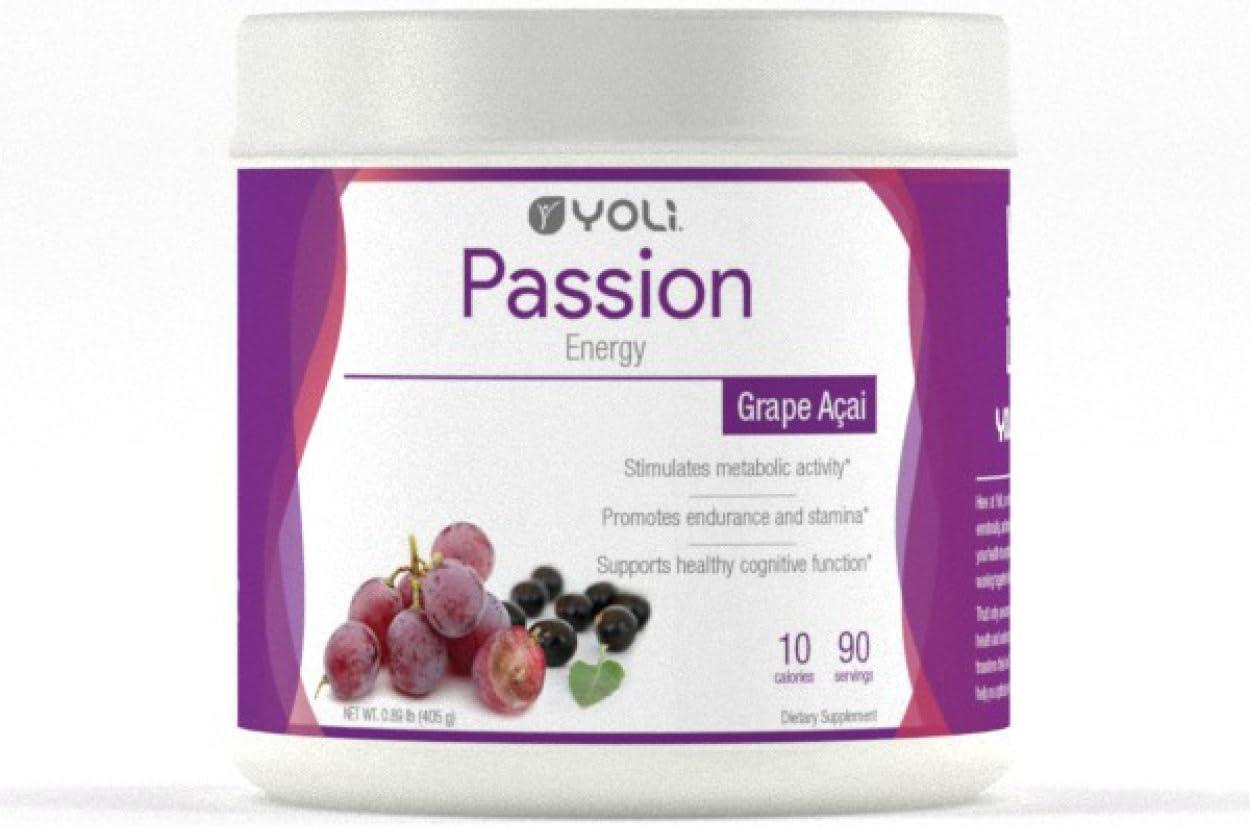 Yoli Passion Energy Drink - Grape Acai Flavored - Canister by Yoli, LLC