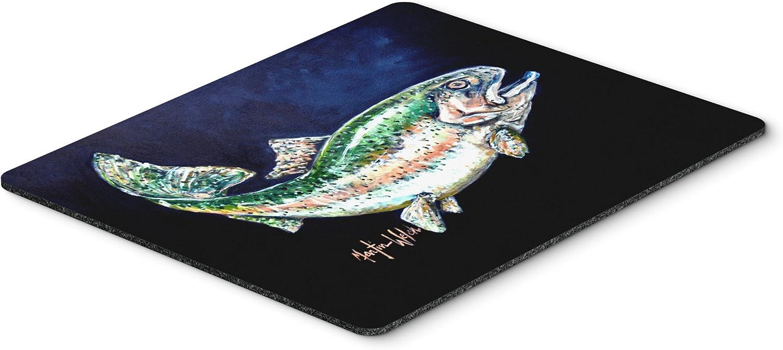 Caroline's Treasures MW1213MP Deep Blue Rainbow Trout Mouse Pad, Hot Pad or Trivet, Large, Multicolor