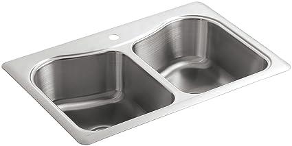 kohler stainless steel kitchen sinks geog kohler k33691na staccato doublebasin selfrimming kitchen sink