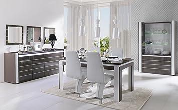 Esszimmer Komplett Set Livadia 6 Teilig Farbe Lava Grau