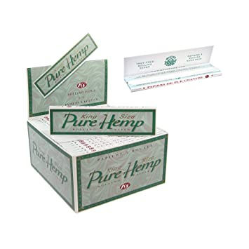 Amazon com: Pure Hemp Green King Size Rolling Papers- 30